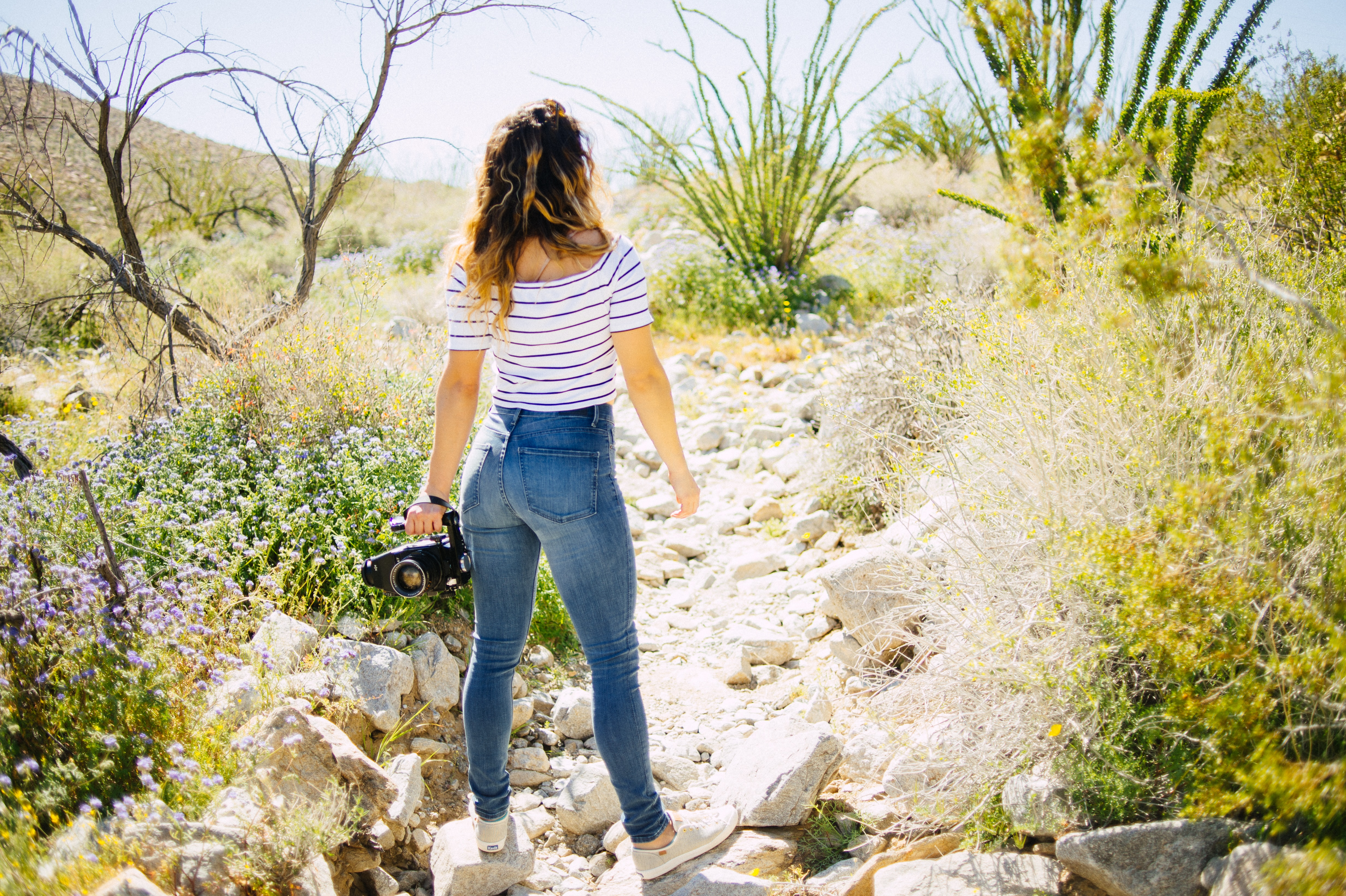 Slim fit jeans met hoge taille